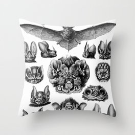 Ernst Haeckel Bats Throw Pillow