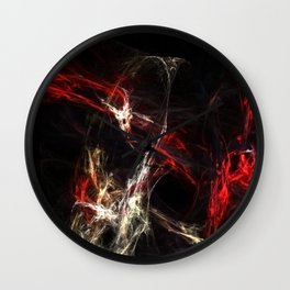 Rotes Leuchten Wall Clock