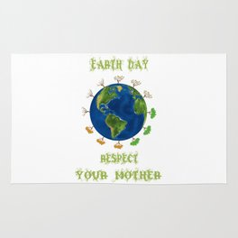 Earth Day - Respect Your Mother Climate Change Rug