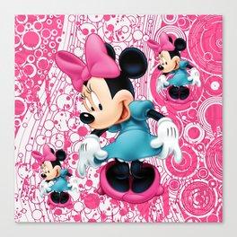 Minnie Mouse Cartoon Canvas Print