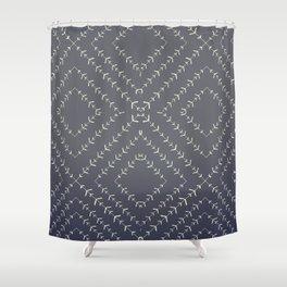Boho blue fade indigo vines Shower Curtain
