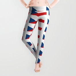 flag of Czech -Czechia,Česko,Bohemia,Moravia, Silesia,Prague. Leggings