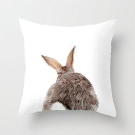 Bunny back side Throw Pillow