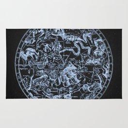 Ice on Black | Zodiac Skies & Astrological Ties Rug