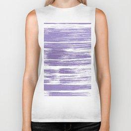 Modern abstract lilac lavender white watercolor brushstrokes Biker Tank