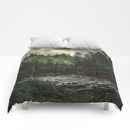 Pacific Northwest River - Nature Photography Comforters