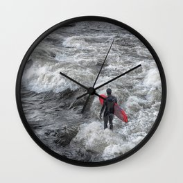 River Surfing Wall Clock
