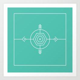 Native & modern geometric pattern 02 Art Print