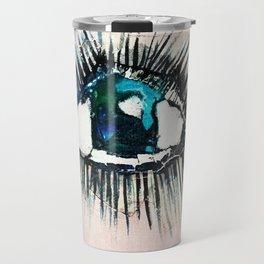 Eyes taped open Travel Mug