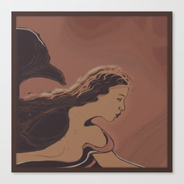 Mermaid / Sketch Canvas Print