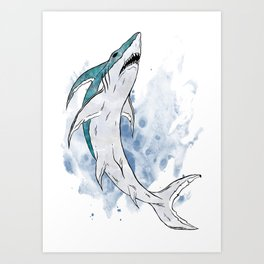 Underwater Animals - Shark Print Art Print