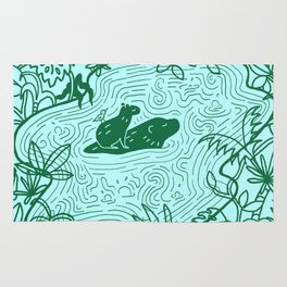 Capybara Jungle Rug