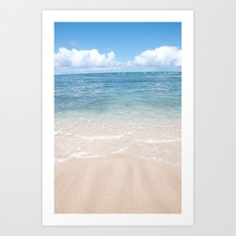 Vertical Ocean Photo Print Art Print