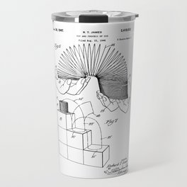Slinky: Richard T. James Slinky Patent Travel Mug
