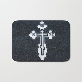 Russian Greek Orthodox Cross Bath Mat