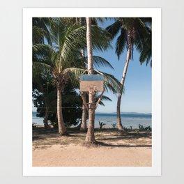 Remote Island Basketball Art Print