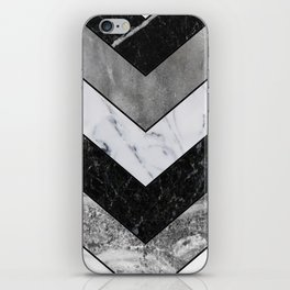 Shimmering mirage - grey marble chevron iPhone Skin