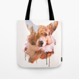 Corgi Forest Tote Bag