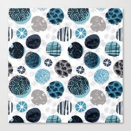 Blue Pebbles Canvas Print