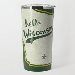 Hello Wisconsin Travel Mug