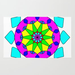 Decorative ethnic vector ornament Rug