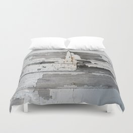Hinge on Vintage Door Duvet Cover