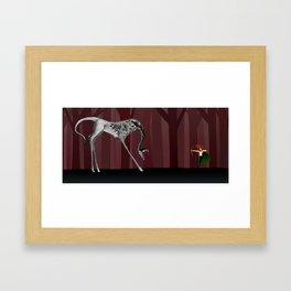 The Questing Beast Framed Art Print
