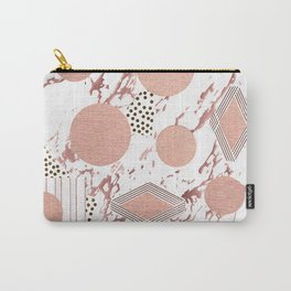 Rose Gold Collage Carry-All Pouch