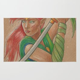 Elven Warrior Rug
