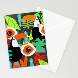 Tropical vibe with toucans Stationery Cards