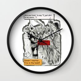 Dead-Pool goin' back in time & reality 3D Wall Clock