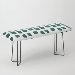 Green Abstract Paint Splotches Bench