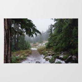 The First Mountain Snowfall Rug
