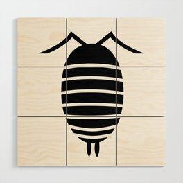 Bugs: abstract Isopod Wood Wall Art