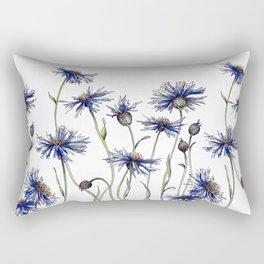 Blue Cornflowers, Illustration Rectangular Pillow
