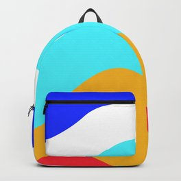 Abstract minimalist waves Backpack