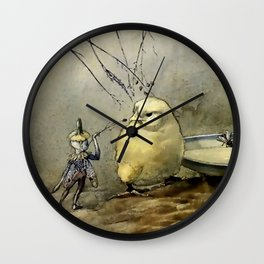 """""""Bother the Gnat"""" by Duncan Carse Wall Clock"""