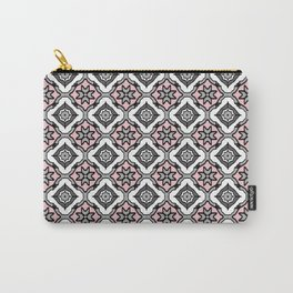 Pink Grey Pattern Carry-All Pouch