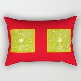 Lime Eyes – Strange Fruits Rectangular Pillow