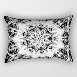 Atomic Black Center Swirl Mandala Rectangular Pillow