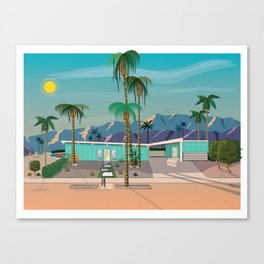 Palm Springs Vacation Home Canvas Print