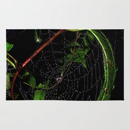 Dewy Curved Leaf Web Rug