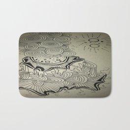 Ink Doodle Sprial Design Bath Mat