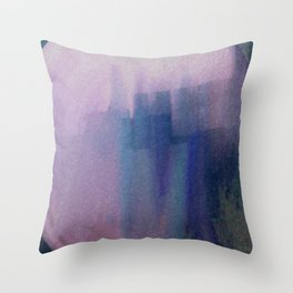 Big Blue City Throw Pillow
