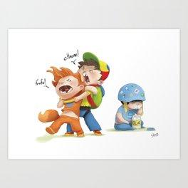 browser wars Art Print
