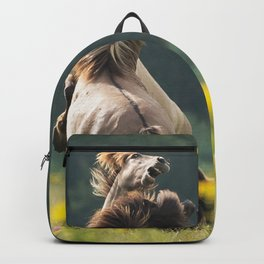 horse fighting Backpack