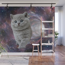 Galaxy Cat Wall Mural