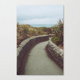 Pathway to Punakaiki Rocks Canvas Print