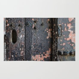 Rusty Fort Door Detail Rug