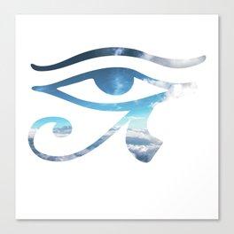 Eye of Horus Sky Background Canvas Print